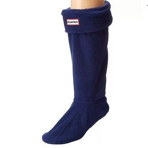 NIB Hunter Navy Blue Tall Boot Socks M